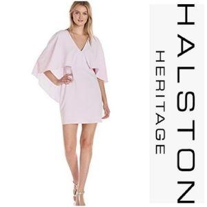 Halston Heritage Hushed Violet Cape Dress
